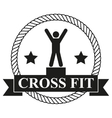 Vintage cross fit and workout Labels vector image vector image