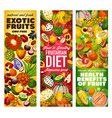 vitamins in exotic fruits and tropical berries vector image vector image