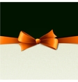 orange gift bows with ribbons vector image
