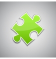 Green puzzle vector image