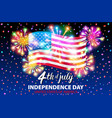 a celebrating independence day poster 4th vector image vector image