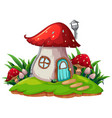 a fantasy mushroom house vector image