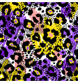 abstract geometric seamless pattern with animal vector image vector image