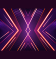 abstract neon background bright shining vector image