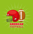 american football sport emblem icon vector image vector image