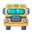 american kid school bus icon cartoon style vector image vector image