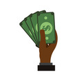 billets money symbol vector image vector image