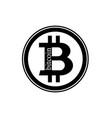 black bitcoin coin vector image vector image