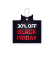 black friday price tag discount badge holiday vector image