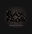 black friday sale banner poster logo on black vector image vector image