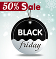 Black Friday sales tag vector image vector image