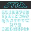 blue lines design alphabet font template set vector image
