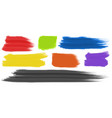 brushstrokes with different colors vector image vector image