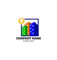 bulb city logo template building idea logo vector image vector image