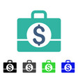 business case flat icon vector image vector image