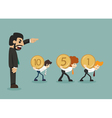 Businessman hard work vector image vector image