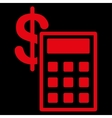 Calculation Icon from Commerce Set vector image