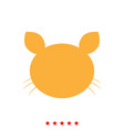 cat head it is icon vector image