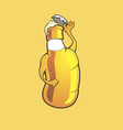 character beer bottle vector image vector image