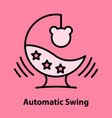 child gadjet swing vector image vector image