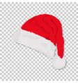 christmas santa claus hat with shadow on isolated vector image