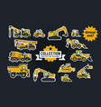 collection of construction equipment special vector image vector image
