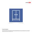 cupboard wardrobe icon - blue photo frame vector image vector image