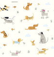 cute little dogs seamless pattern vector image vector image