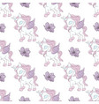 dancing unicorn fairy tale seamless pattern vector image vector image