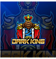 dark king esport mascot logo design vector image