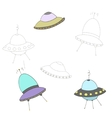 Educational game connect the dots to draw UFO vector image vector image