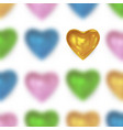 festive background with glossy colored heart vector image vector image