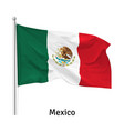 flag united mexican states vector image vector image