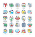 flat set of shopping and commerce vector image vector image