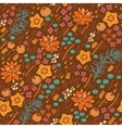 Floral seamless pattern Bright can vector image vector image