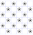 Football Ball Purple Grid White Background vector image vector image