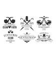 gentleman club vintage logo templates set fashion vector image vector image