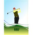 golf a0104 vector image vector image