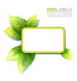 Green Eco Label vector image