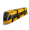 hand drawn of modern tram car for print web vector image vector image