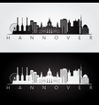 hannover skyline and landmarks silhouette vector image vector image