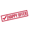 Happy Offer rubber stamp vector image vector image
