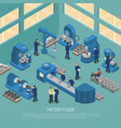 heavy industry production facility isometric vector image vector image