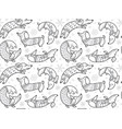 holiday dachshund dogs in christmas sweaters vector image