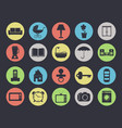 household appliances and furniture icon set vector image vector image