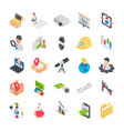 icons pack of flat business elements vector image vector image