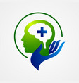 intelligence tech colorful mind head health logo vector image vector image