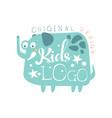 kids logo original design baby shop label vector image vector image