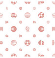 logistics icons pattern seamless white background vector image vector image