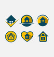 logo set real estate vector image